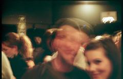 couple (Beaulawrence) Tags: show portrait blur guy canonav1 slr art fall film girl vancouver analog 35mm print 50mm movement focus mainstreet couple screenprint long exposure gallery bc crowd grain scan september event silkscreen scanned vintagecamera artshow manualfocus kingedward 400asa mtpleasant fujisuperia rileypark canonslr 2011 av1 sooc singlereflex littlemountaingallery groppsgallery fdmound freeprintshow TGAM:photodesk=love2012
