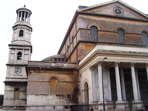 Campanario y portico Gregorio XVI