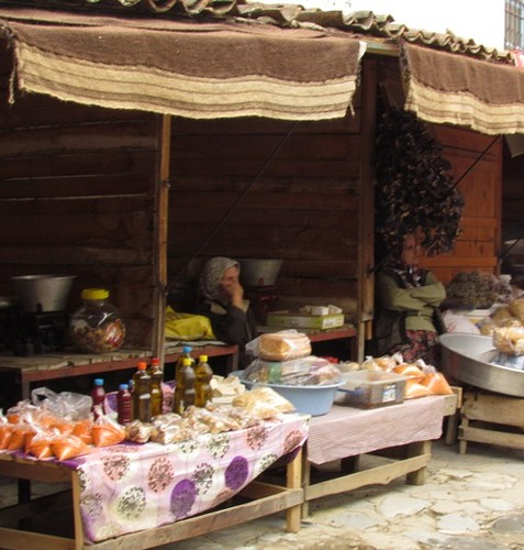 Village women selling their wares in Sirince