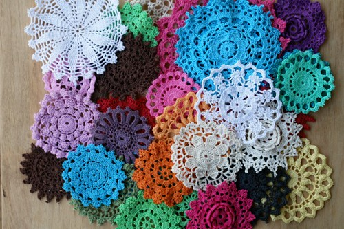 thirty doilies