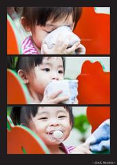 20110911 - Cheryl Woo Pei En (Jeremy Tan, KL) Tags: portrait girl smile collage children happy kid child play drink malaysia geotag selangor combo kepong peien jinxstudio cherylwoo