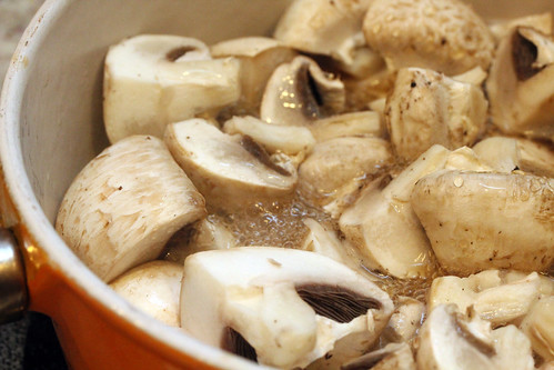 Steamed mushrooms