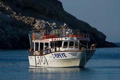 Popeye's Boot (Jürgen Mayer) Tags: boot bay meer wasser europa sommer urlaub steine greece fels baden griechenland stein rhodes schiff reise rhodos felsen bucht anthonyquinn anthonyquinnbucht anthonyquinnbay