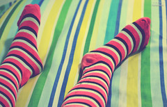 313/365. (Denise :))) Tags: socks photography nikon stripes denise 2011 november9 project365 d3100 3132011 365stories