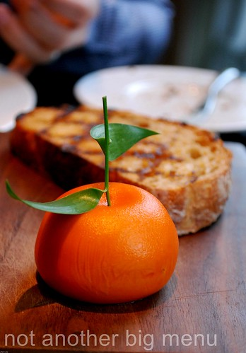 Dinner by Heston - Meat Fruit (c.1500) Mandarin, Chicken Liver Parfait and Grilled Bread