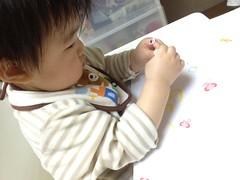 お絵描きやシール遊び(2011/11/11)