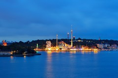 Just For Fun - Stockholm Amuseument Park Grna Lund Blue Hour (Maria_Globetrotter) Tags: park lund night cloudy sweden stockholm july sverige bluehour juli grnalund grna 2011 amuseument mariasweden