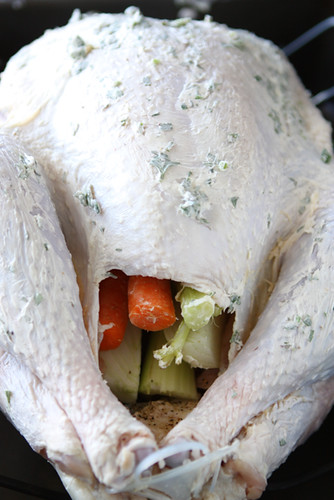 ... Canuck - Roasted Turkey with Herb Butter & Roasted Shallots Recipe