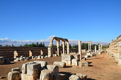 Anjar, Umayyad city, al-Walid I, 705-15, along the decumanus maximus (1) (Prof. Mortel) Tags: lebanon umayyad anjar
