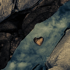 Heart of Gold (Boreal Bird) Tags: abstract reflection love brightonbeach lakesuperior heartofgold iheartneilyoung