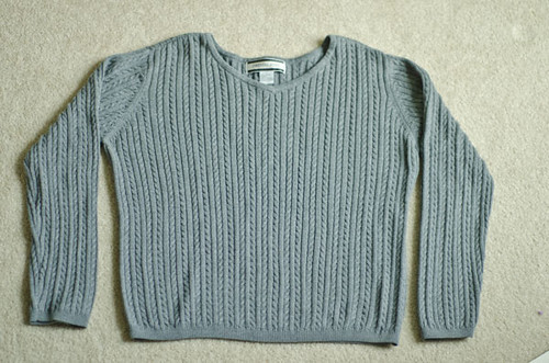 Gray-thrifted-sweater