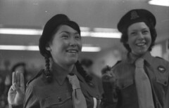 Lucy and Oleepeeka in girl guide uniforms / Lucy et Oleepeeka vtues de luniforme des Guides (BiblioArchives / LibraryArchives) Tags: girls canada lac inuit uniforms northwestterritories nunavut guides filles bac 1960 iqaluit frobisherbay uniformes girlguide libraryandarchivescanada bibliothqueetarchivescanada rosemarygilliat
