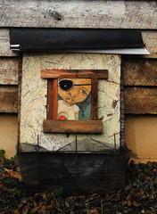 bulls eye 2 (bolanleadeboye) Tags: house art girl painting shack recycle reuse bolanle adeboye