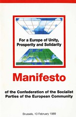 Manifesto of the Confederation of the Socialist Parties of the European Community, 1989 (Scottish Political Archive) Tags: party scotland community european parties socialist manifesto publication