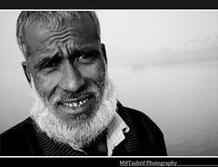 """Eagerness"" (MHTashrif) Tags: portrait blackandwhite white black beard nikon expression candid portraiture aged bangladesh facial bnw eager pleased"