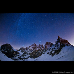 Pale di San Martino (Spidi1981) Tags: wood travel blue schnee winter sunset red panorama sun mountain holiday snow color green fall nature berg grass stars landscape geotagged photography evening abend photo weide nikon san heaven sonnenuntergang sundown photos south natur wiese himmel pale kreuz di grn alpen blau capture tamron landschaft sonne wald martino tyrol paesaggio rosengarten reise farben bozen sterne d800 wanderung gebirge d300 dolomiten d4 weiher sternenhimmel nachtfoto nachmittagssonne nikond300