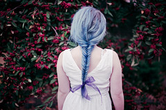 silent mermaids climbed the trees IV (Ailera Stone) Tags: flowers blue autumn red stone fairytale hair berries pastel doughty ribbon tasha braid fishtail aiste ailera tiriute