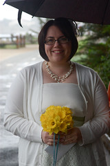 The Bride on a Rainy Day (earthdog) Tags: wedding smile d50 bride nikon nikond50 pacificgrove 2012 kianabeth kianaandrewwedding