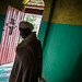 priest at the door of a monastery on Lake Tana-ethiopia