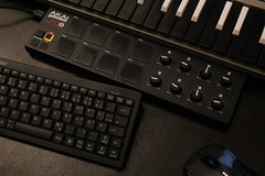 Workspace (headmademusic) Tags: music studio table mouse drums percussion voice korg recording akai
