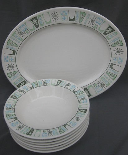 Cathay platter and bowls