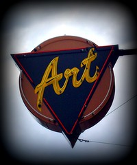 Neon Art Sign (BlackAndBlueBeauty) Tags: art sign montana neon butte uptown mofab