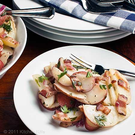 German Potato Salad on table