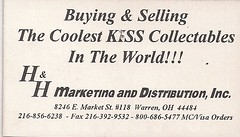 07-16-95 Kiss Convention @ Bloomington, MN (H&H Collectables Business Card)