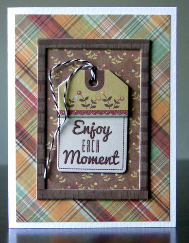 Enjoy Each Moment Card - We R Memory Keepers