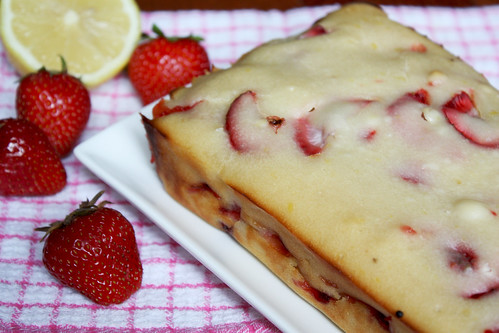 Lemon Strawberry Yogurt Loaf