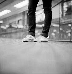 Chucks (DowntownRickyBrown) Tags: 120 mediumformat shoes bokeh chucks kodaktmax400 allstars push800 selfdevelop rolleiflex28d rodinaloneshot