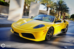 Ferrari 430 16M Scuderia Spider | I'm in Love :$ (Tareq Abuhajjaj | Photography & Design) Tags: light red sky moon white black cars car sport yellow night race speed photography lights design spider photo big high nice nikon flickr power top wheels fast gear ferrari turbo saudi arabia manual carbon fiber rims riyadh scuderia v8  2010 430 ksa tareq 16m       d700     tareqdesigncom tareqmoon tareqdesign  abuhajjaj