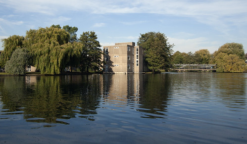 The University of York campus ...