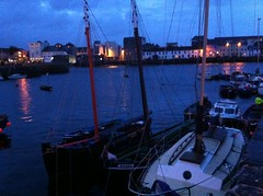 Galway, Ireland at dusk