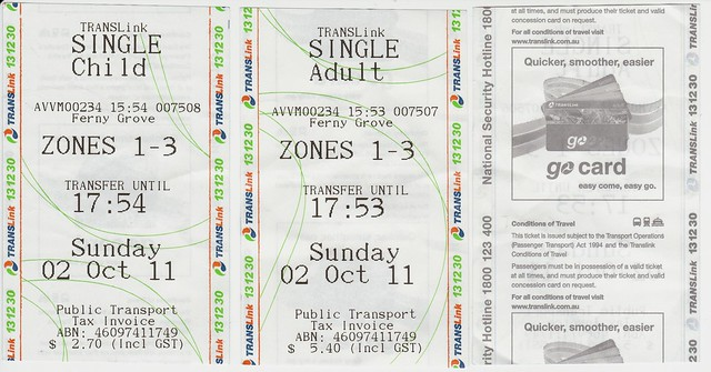 Translink single tickets