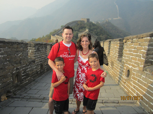 Campbell family at Great Wall
