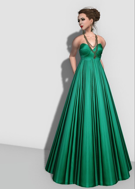 Group Gift Jade Silk Gown