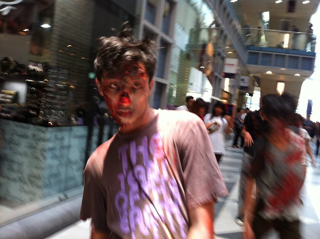 Zombies at Raffles Place, Oct 14