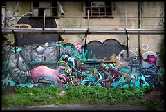 By BOM.K, MASK, KALIS (Thias (-)) Tags: terrain streetart paris wall painting graffiti mural mask spray urbanart painter greetings graff aerosol dmv bombing 91 spraycanart fresque pgc thias kalis bomk photograff klees frenchgraff photograffcollectif
