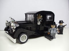 Getting ready to stir up trouble! (Brickadier General) Tags: auto 1920s ford car sedan 1930s gangster gangsters model lego gang chrome vehicle 1920 30s fleshies 1930 20s bootleggers bootlegger auotmobile brickarms brickwarrior