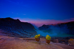 Beautiful Ijen (zoomion) Tags: blue brown lake yellow clouds sunrise indonesia volcano acid crater sulfur ph ijen banyuwangi caledera