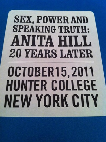 Flier for the conference reading SEX POWER AND SPEAKING TRUTH: ANITA HILL 20 YEARS LATER