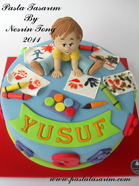 yusuf 3th birthday cake