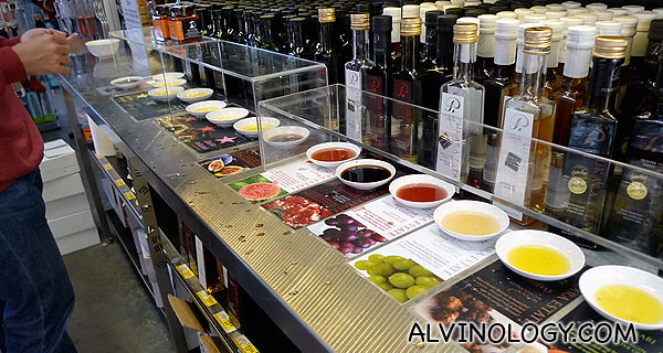 You get to sample other stuff too, like the different flavour olive oil