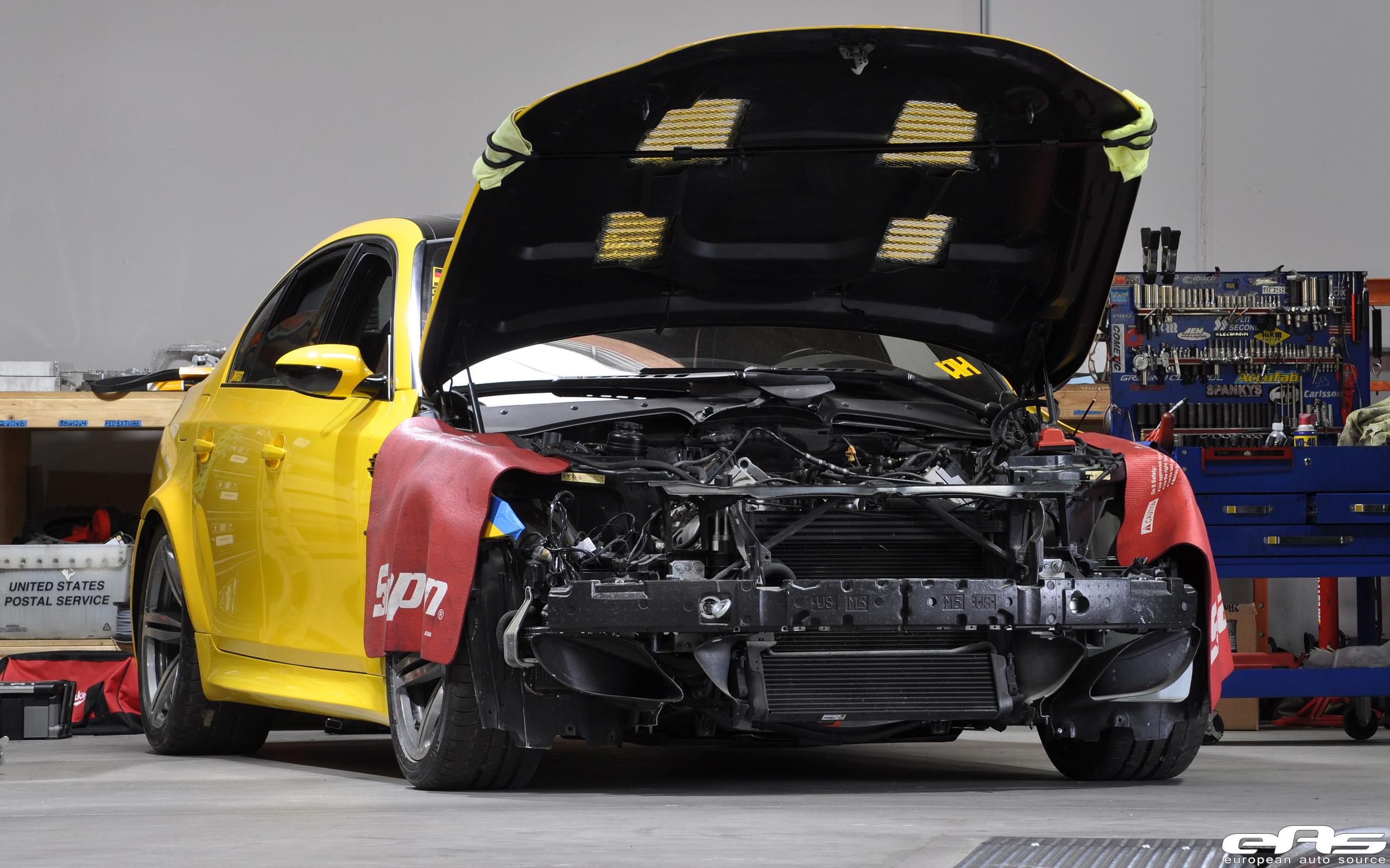 Build Journal MFEST E60 M5 G Power Twin Supercharger Install Part