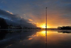 Don't forget to fill your local Ice rink.... (powerfocusfotografie) Tags: morning winter sky holland reflection ice water colors clouds sunrise silhouettes icerink groningen henk backllight usquert nikond90 100commentgroup powerfocusfotografie mygearandme