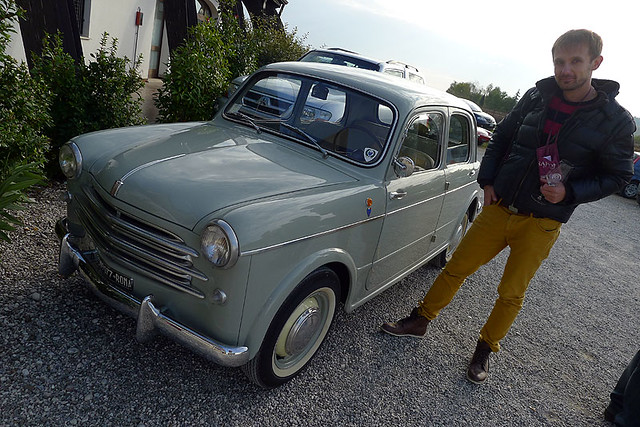 The end - admiring a vintage Fiat 1100