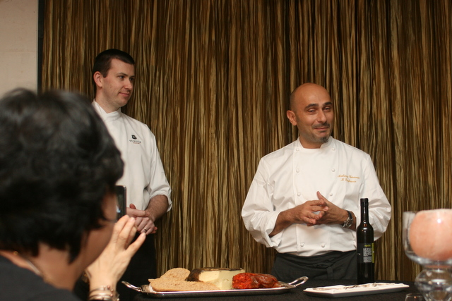 Chef Antony Genovese (right) is owner of two-Michelin starred Il Pagliaccio in Rome