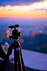 My Instrument (Edwin_Abedi) Tags: city sunset lights losangeles lowlight bokeh tripod griffithobservatory