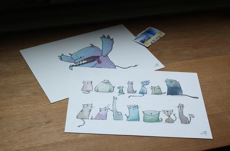 postkarten druck